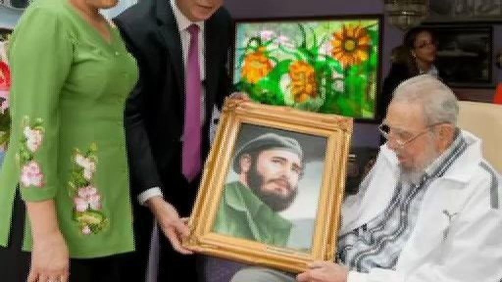 Las últimas imágenes de Fidel Castro con vida