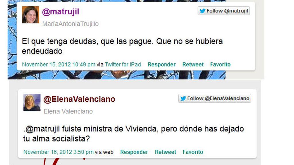 rifirrafe Valenciano Ex ministra de vivivenda Trujillo