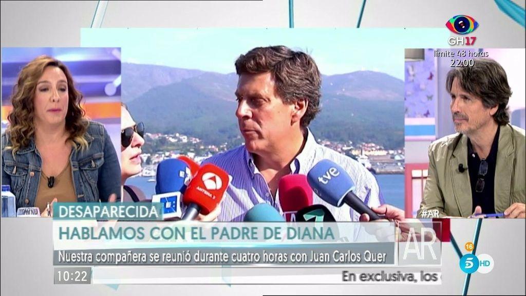 """S. Fonseca: """"Juan Carlos Quer está destruido por la desaparición de su Diana"""""""