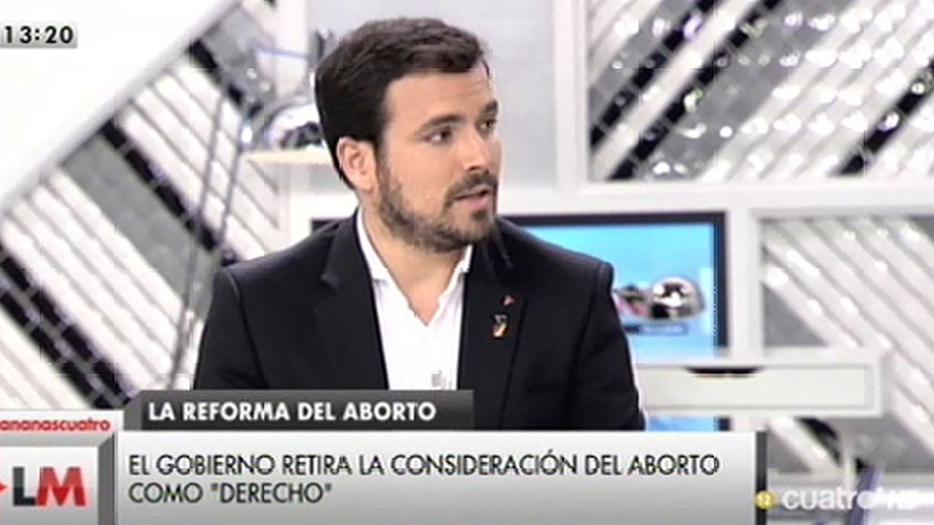 """A. Garzón: """"El PP, desesperado por ganar votos, está intentado reaccionar como puede"""""""