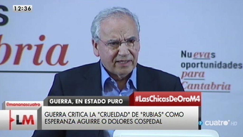 """Alfonso Guerra: """"A veces tienen un lapsus y son sinceros"""""""