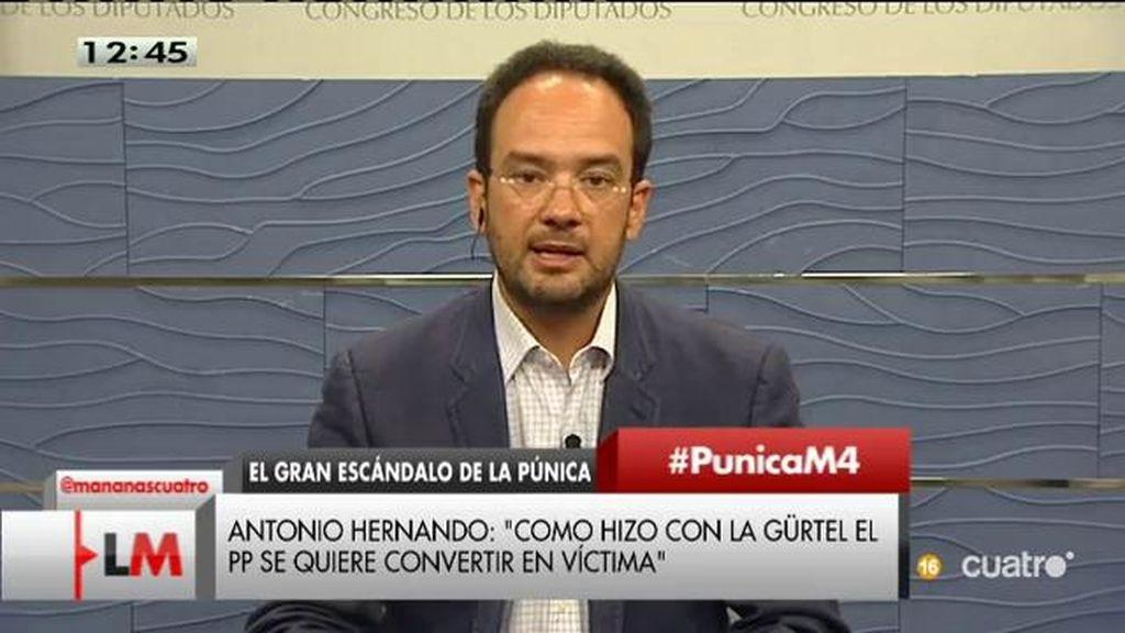 """Antonio Hernando: """"La Púnica podría ser un remake de la Gürtel"""""""
