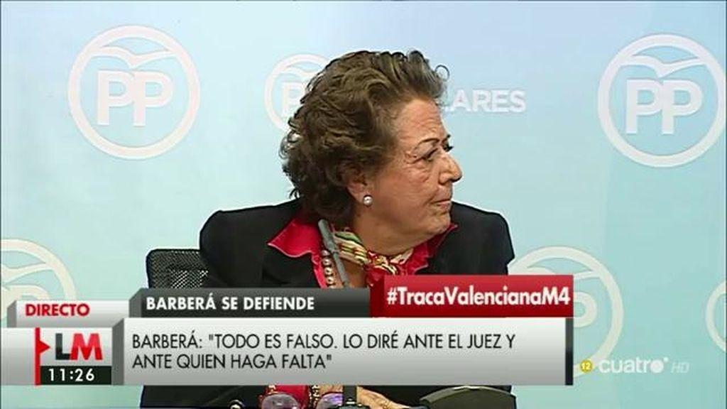 """Rita Barberá: """"Agradezco el ofrecimiento del juez y acepto este ofrecimiento"""""""