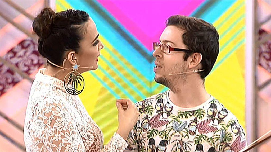 Natalia, Cristina y Pelayo no pueden parar de reír con Zeljko