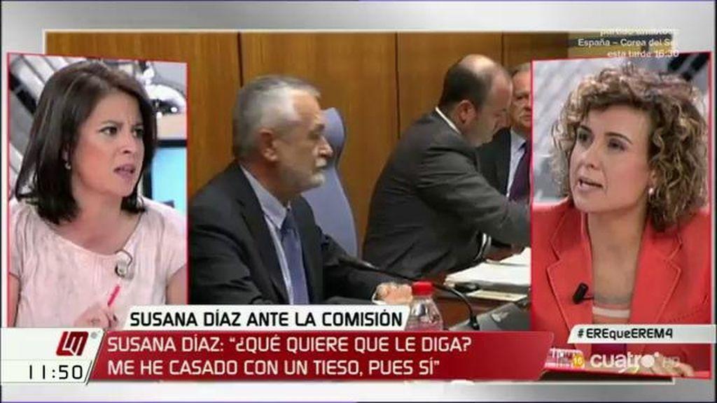 """Adriana Lastra, tras la comparecencia de Susana Díaz: """"El PSOE da la cara"""""""