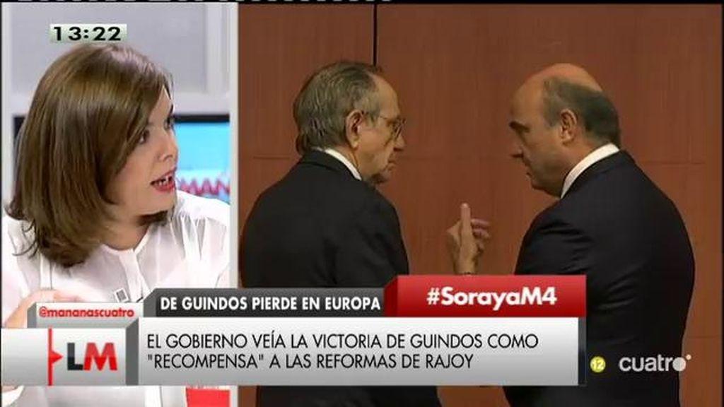 """Santamaría: """"Las reformas del gobierno son las que dan resultado y Luis de Guindos ha sindo un gran protagonista"""""""