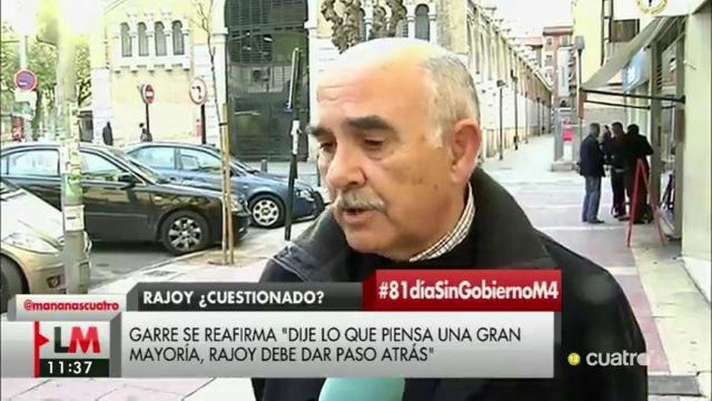 """Garre reitera sus palabras: """"Rajoy debiera dar un paso atrás, no he dicho ni más ni menos que lo que creo que piensa la mayoría"""""""