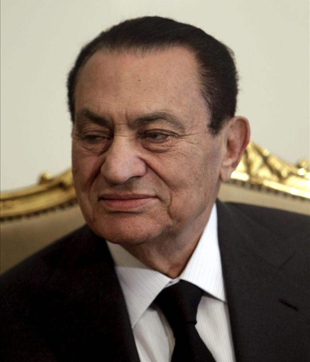 El presidente de Egipto, Hosni Mubarak. EFE/Archivo