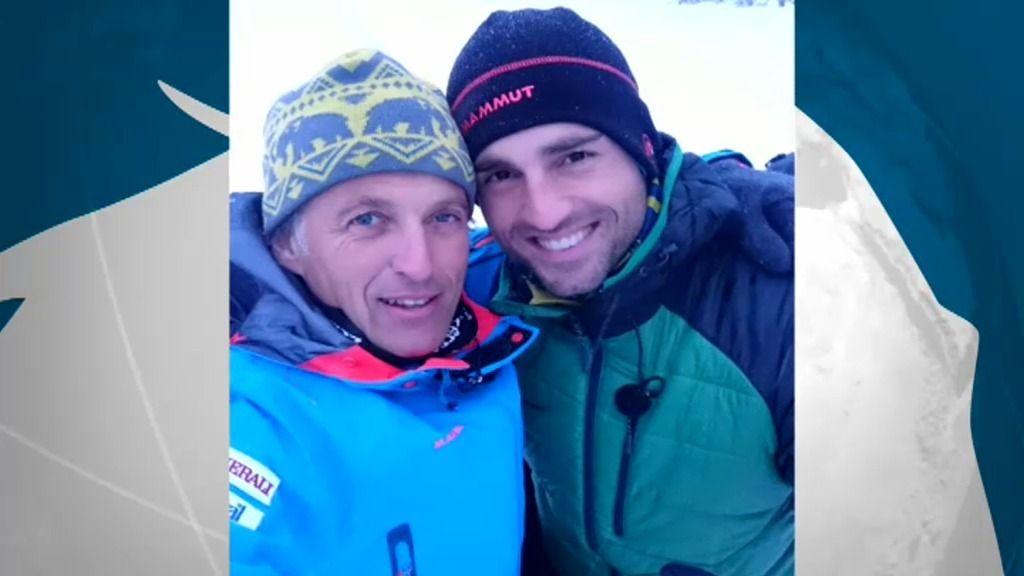 El 'selfie' de Jesús Calleja con David Bustamante en la nieve de Noruega