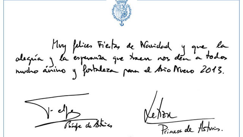Felicitación de los Príncipes