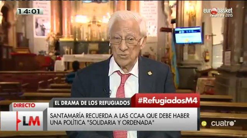 """Padre Ángel, sobre los refugiados: """"No podemos quedar impasibles"""""""