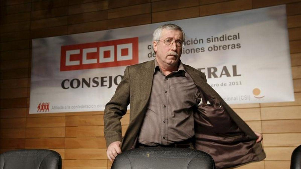 El secretario general de CC.OO, Ignacio Fernández Toxo, antes de ayer en Madrid. EFE