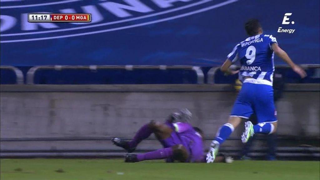 ¡Kameni evita el primero del Deportivo con un paradón a Iván Cavaleiro en el penalti!