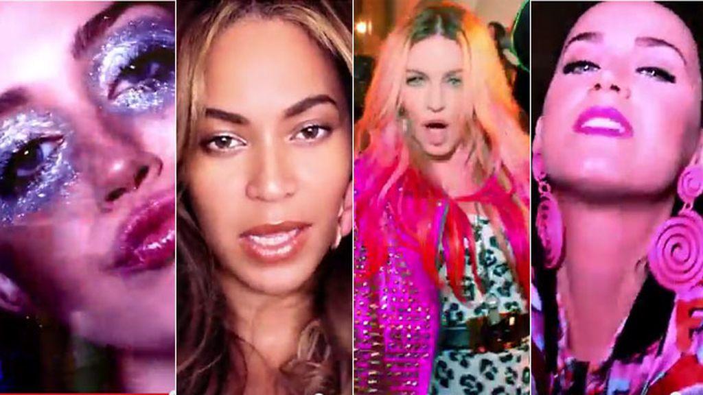 Miley, Beyonce, Kortajarena, Katy Perry y Rita Ora: la 'megapandi' de Madonna, en vivo