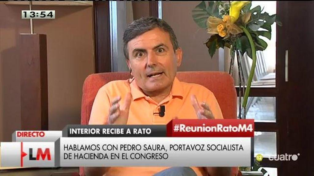 """Pedro Saura: """"Hay una estrategia para salvar al soldado Rato"""""""