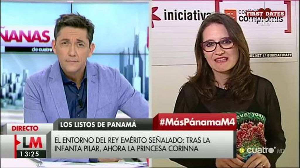 """Mónica Oltra: """"La empresa en Panamá puede ser legal, pero es indecente"""""""