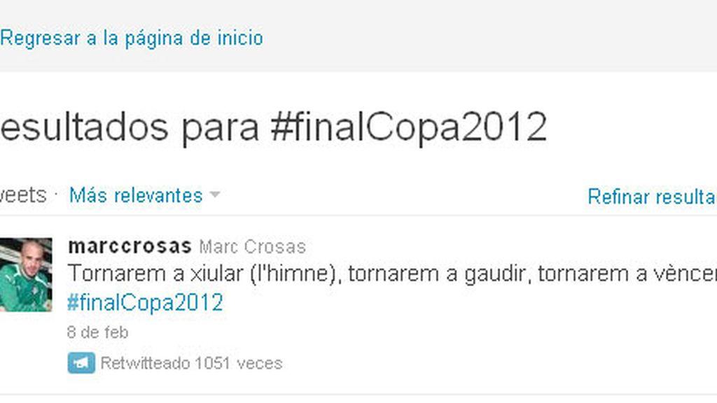 Marc Crosas criticado por sus palabras en Twitter
