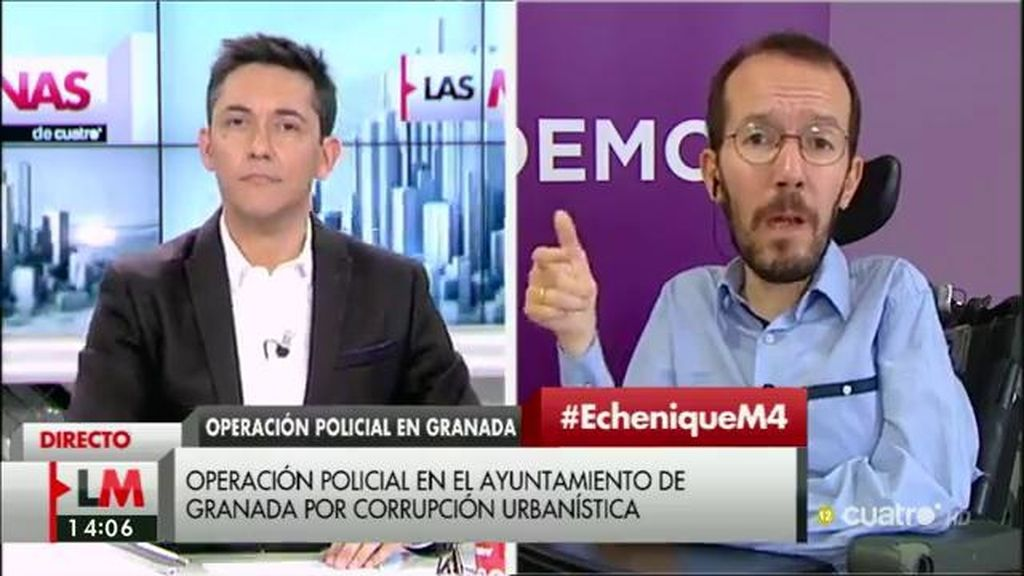 """Echenique: """"Hay que celebrar la actitud de C's en Granada pero hay que reprobar su actitud en Madrid y en las negociaciones"""""""