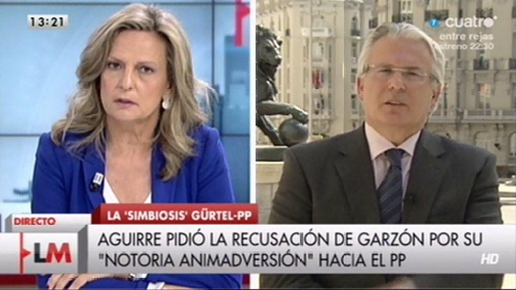 """Garzón: """"Discrepo profundamente de la sentencia, por eso estoy impugnándola ante el Tribunal Europeo"""""""