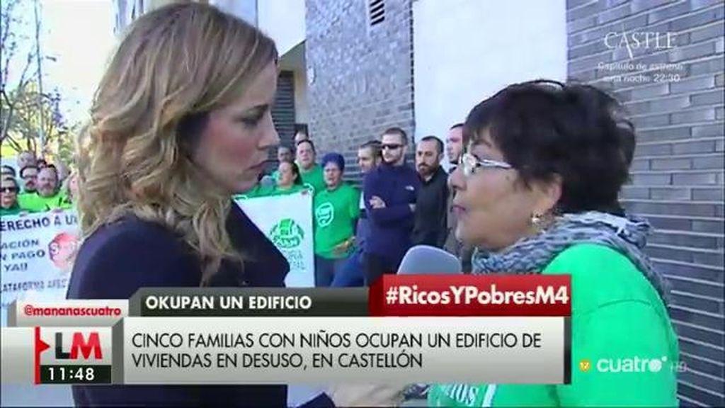 Cinco familias con niños y sin hogar 'okupan' un edificio vacío en Castellón