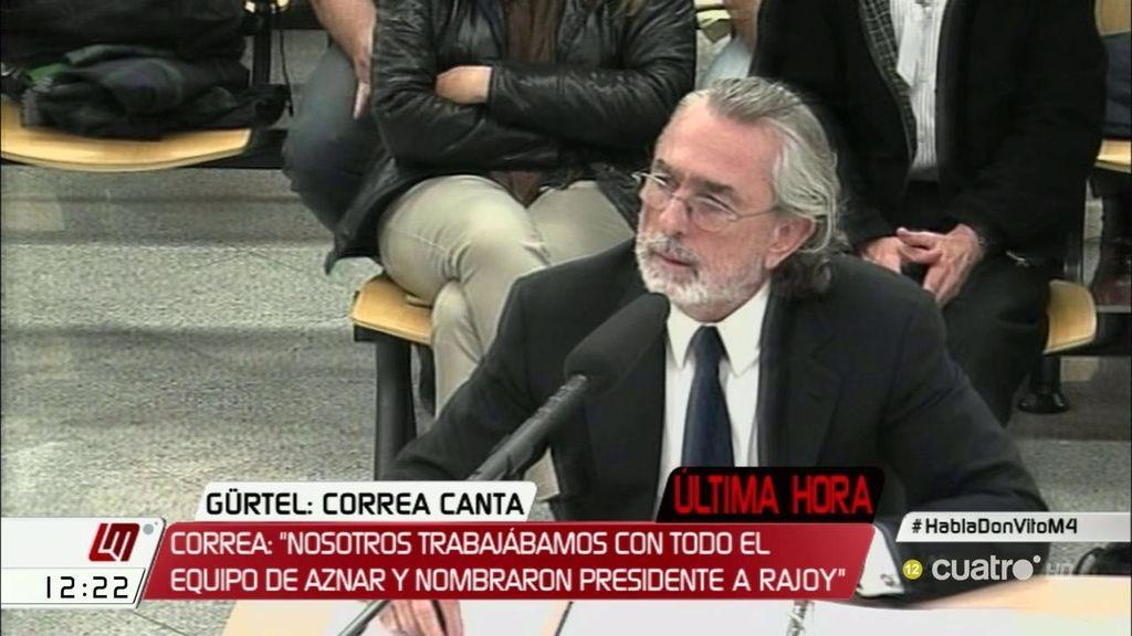 """Francisco Correa: """"Nosotros trabajábamos con todo el quipo de Aznar"""""""