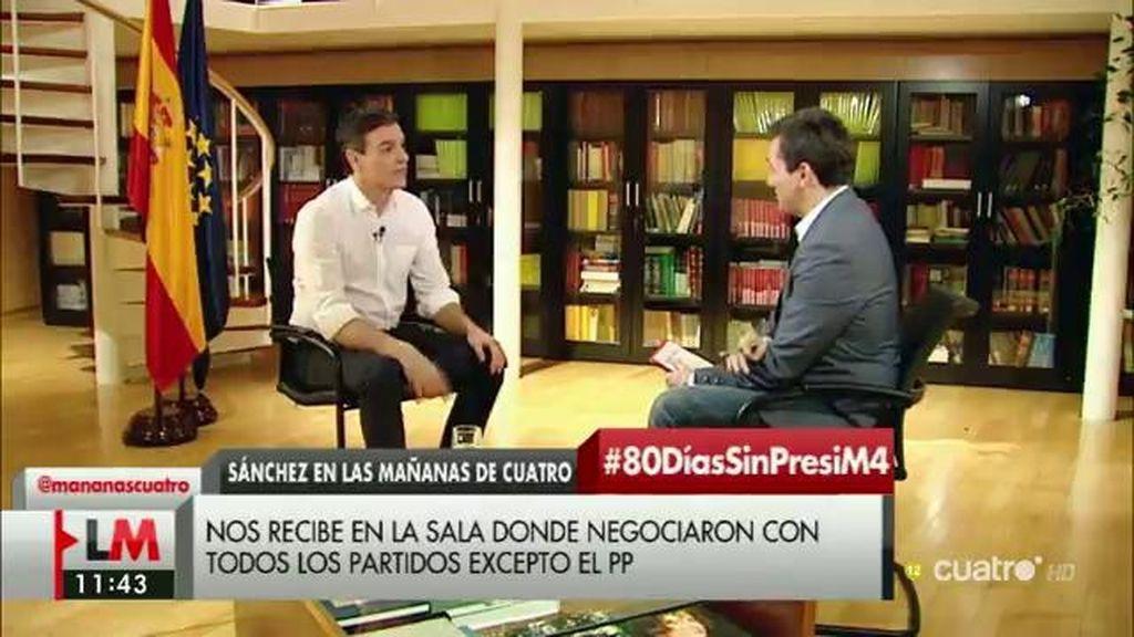 """Pedro Sánchez: """"Rajoy no quiso sentarse conmigo en la misma sala en la que me he reunido con el resto de grupos"""""""