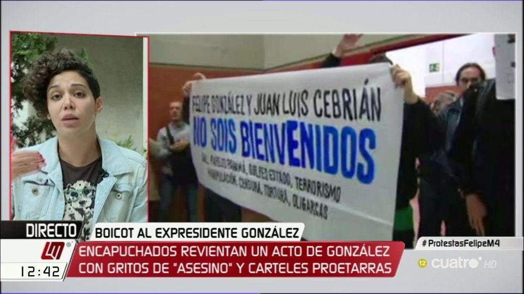 """Ana García, portavoz de estudiantes: """"Está habiendo una gran manipulación"""""""