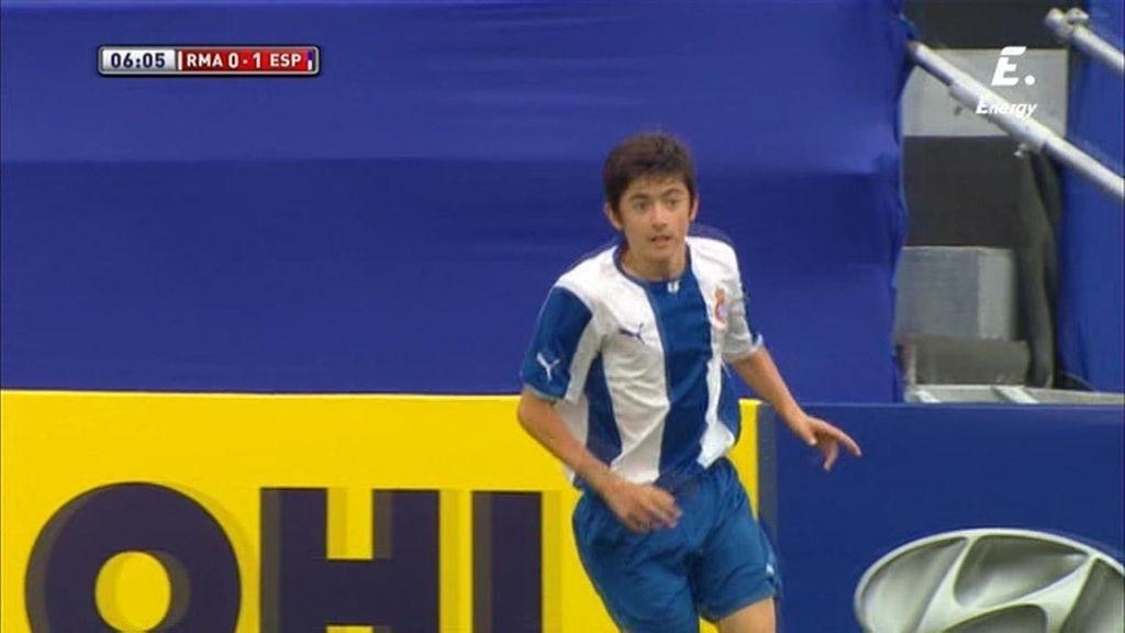 Aitor adelanta al Espanyol ante el Madrid (0-1)