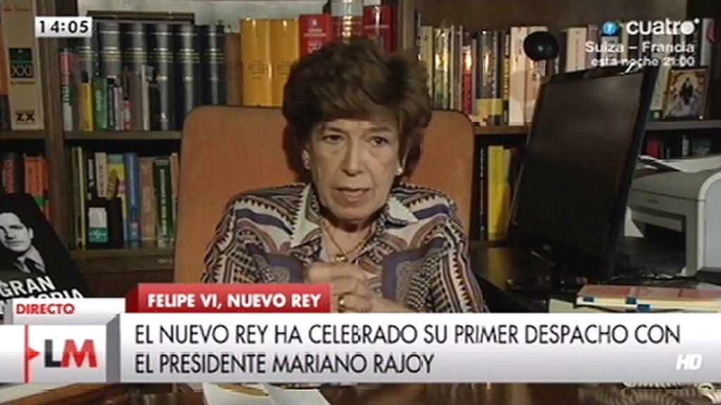 """Pilar Urbano: """"Cuando los españoles votaron la reforma política estaban votando con Rey"""""""