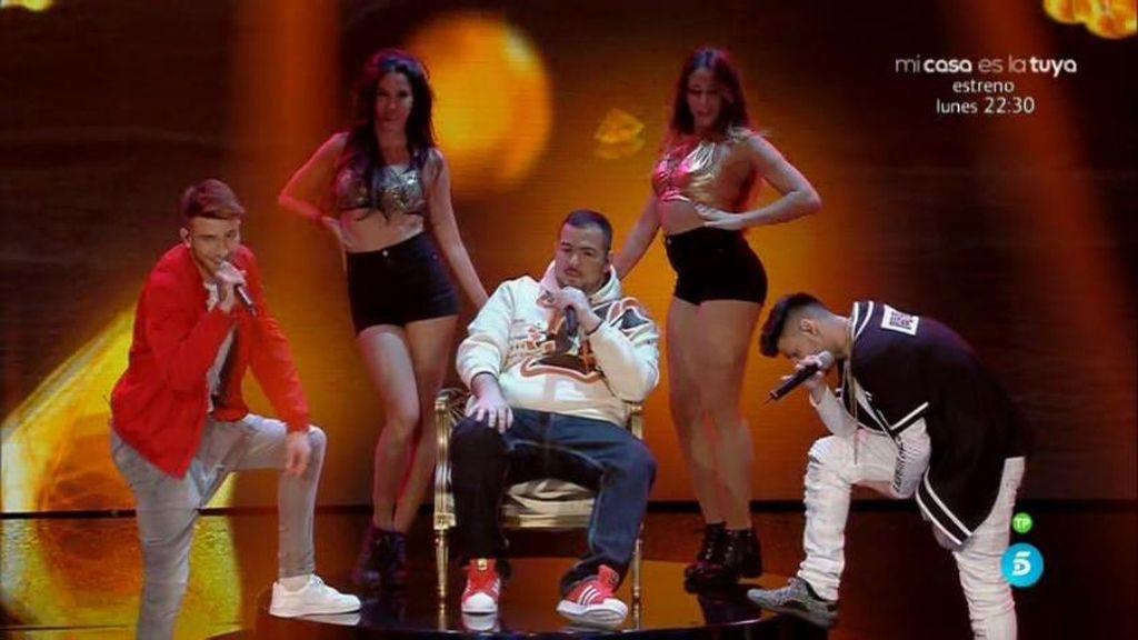 Los Black Diamond reciben un 'botón rojo' de Edurne por su reggaeton