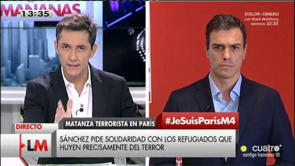 """P. Sánchez: """"Apostamos por una intervención militar bajo la legalidad internacional"""""""