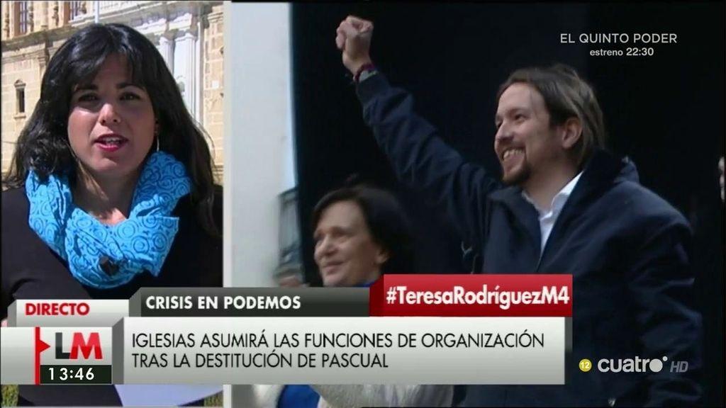 """Teresa Rodríguez niega que haya fractura: """"En Podemos no hay dos almas, hay 100"""""""