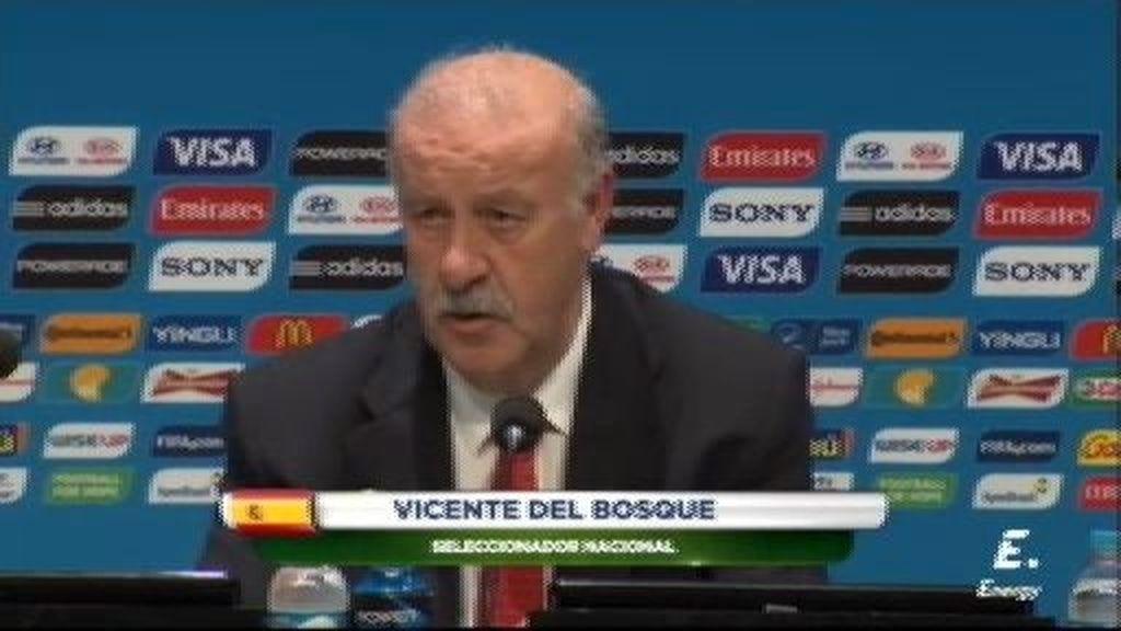 """Del Bosque: """"Estamos apeados porque no hemos sido mejores que Holanda y Chile"""""""