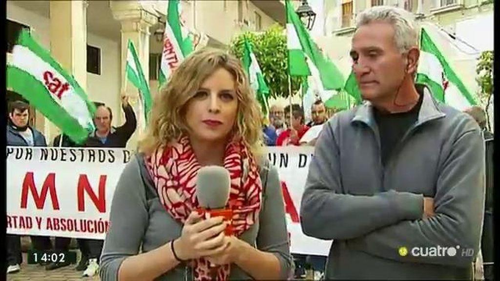 """Diego Cañamero (SAT): """"El campamento va a continuar hasta que Andrés esté en la calle"""""""
