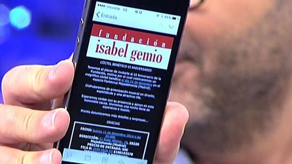 ¡La 'Fundación Isabel Gemio' invita a Jorge Javier a un cóctel benéfico!