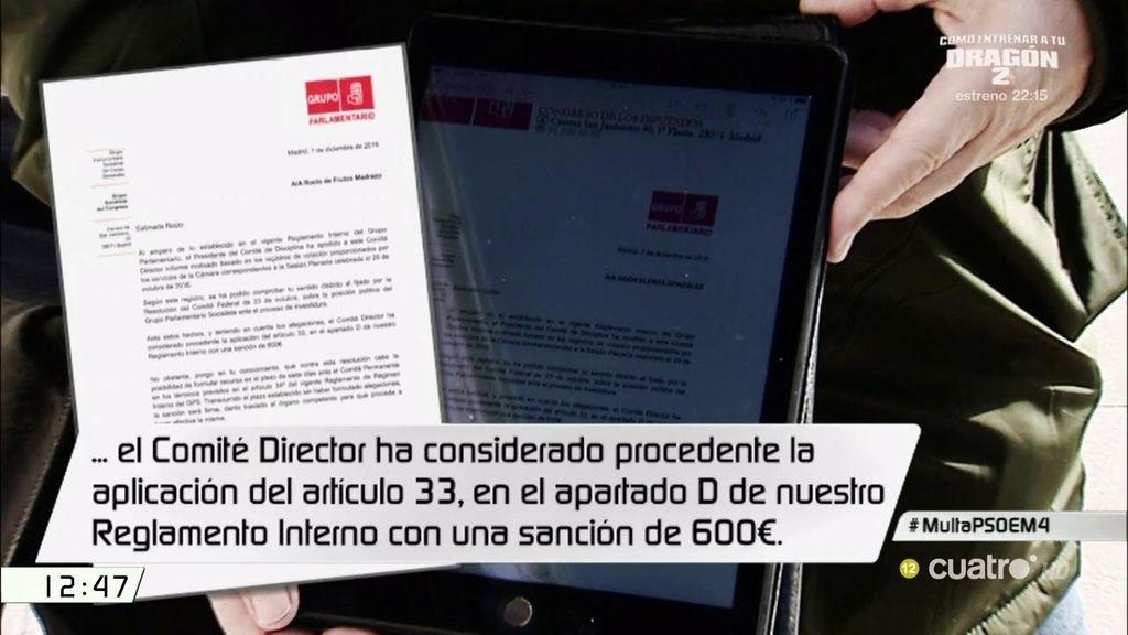 Ocho de los 15 diputados del PSOE sancionados por votar 'no' a Rajoy recurrirán