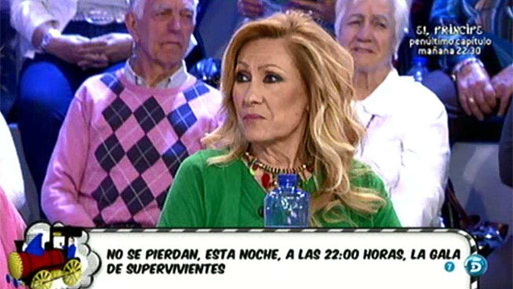 """Rosa, sobre Amador: """"Que me cambie por una de 25 no es mi problema, hace muy bien"""""""