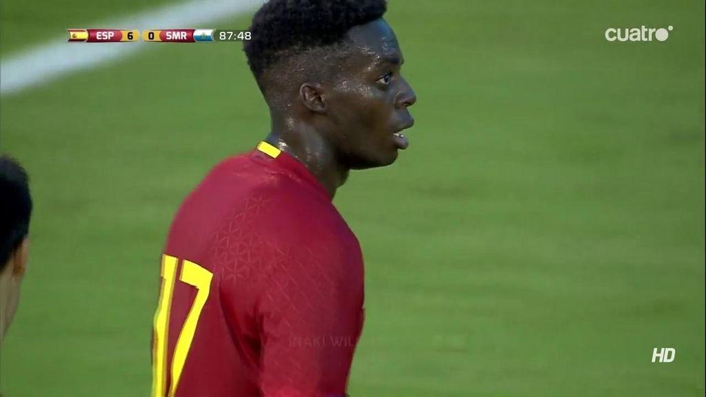 Iñaki Williams cerró el marcador ante San Marino marcando el sexto para España (6-0)