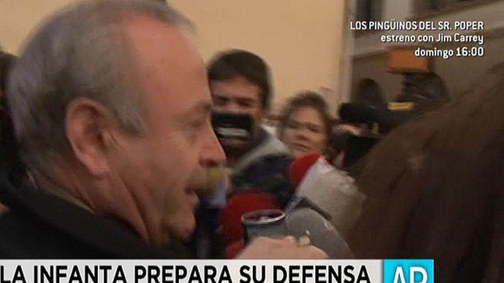 Castro, tranquilo ante la declaración de la Infanta