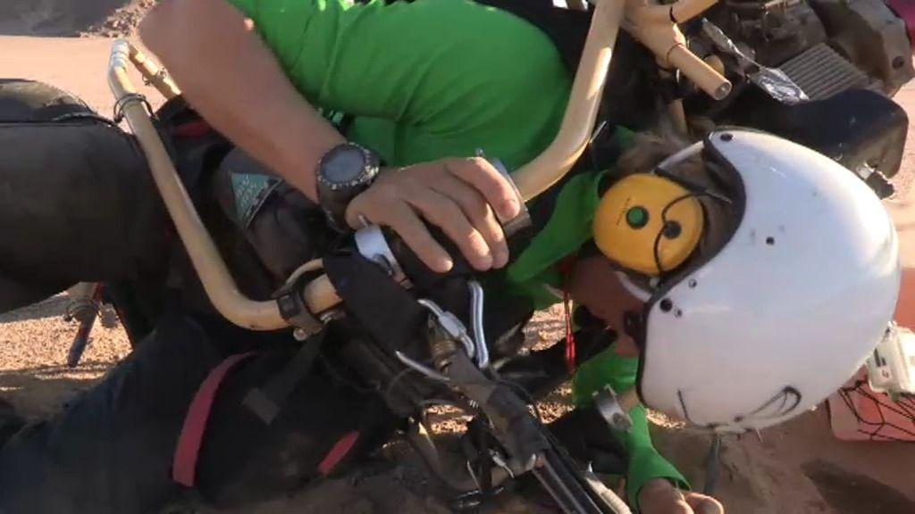 ¡Calleja tiene un accidente con el paramotor!