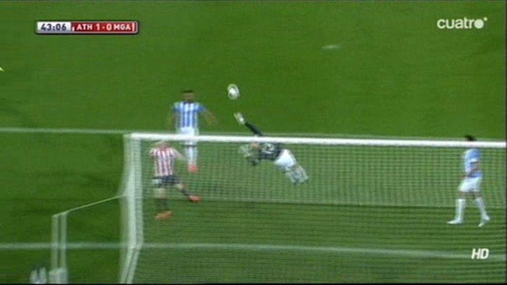 ¡Willy Caballero vuela de poste a poste para evitar el gol del Athletic!