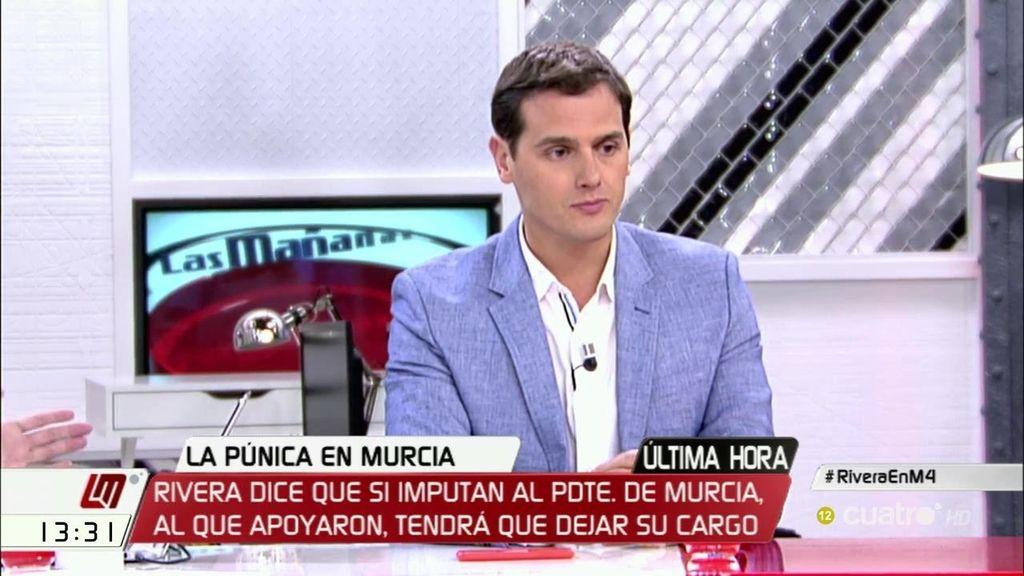 """A. Rivera: """"Si hay imputación, pediremos la dimisión de Pedro Antonio Sánchez"""""""