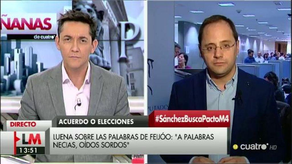 La entrevista con César Luena, a la carta