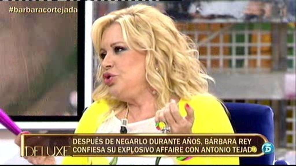 """Bárbara Rey: """"En casa de María del Monte solo hubo un beso"""""""