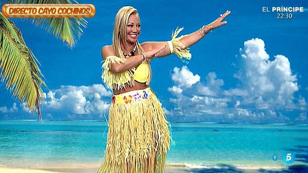 Belén Esteban, la hawaiana de 'Sálvame'