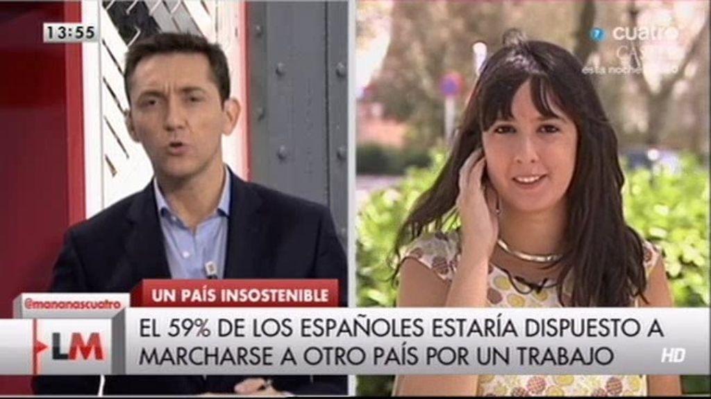 """Silvia, licenciada de 25 años en paro:""""Me quedo en España para luchar"""""""