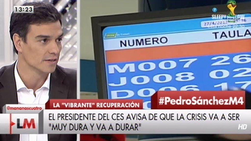 """Sánchez, de Rajoy: """"Me parece que peca de escasa ambición y de autocomplacencia"""""""