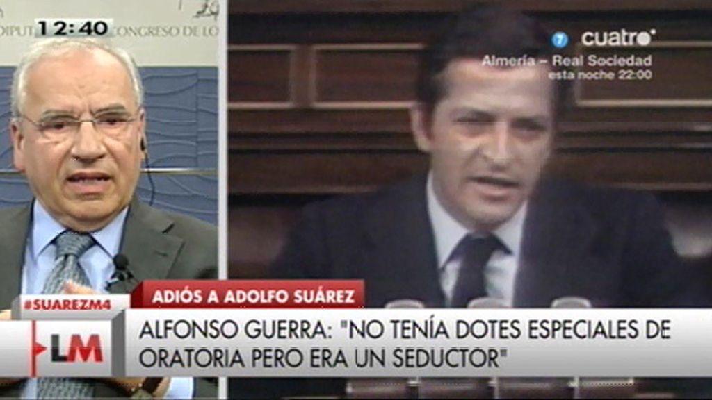"Alfonso Guerra, sobre Suárez: ""No tenía dotes de oratoria especiales, él seducía"""