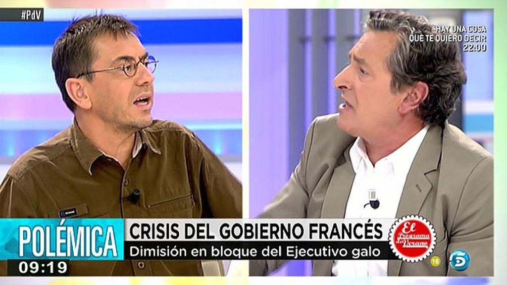 """Juan Carlos Monedero, a Viloria: """"No sea usted faltón"""""""