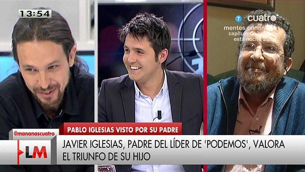 """El padre de P. Iglesias pregunta: """"¿Cuánto tendré que esperar para tener un nieto?"""""""